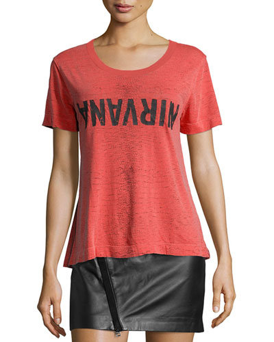 Nylo Short-Sleeve Graphic Tee, Rouge