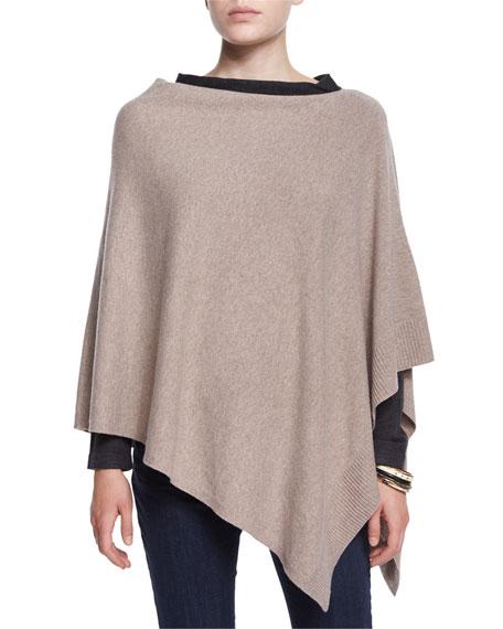 Cozy Fine-Gauge Wool Poncho, Plus Size
