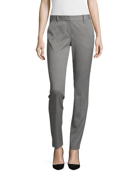 Theory Trecca Oregon Slim-Fit Pants, Black/White