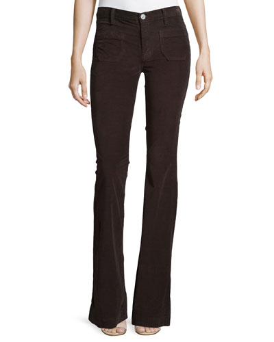 Taylor High-Rise Superior Flared Jeans, Foxglove Brown 2