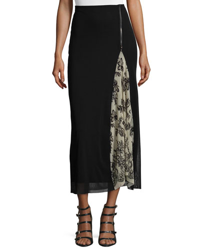 Maxi Skirt W/ Lace Inset