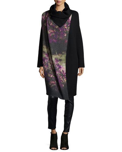 Floral-Print Wool-Blend Jacket