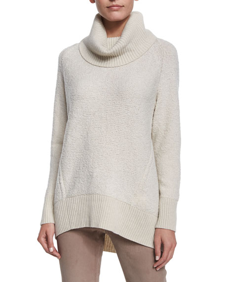 Lafayette 148 New York Cowl-Neck Wool Sweater