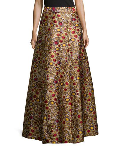 Long Jacquard Ball Skirt