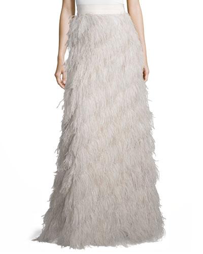 Sherell Ostrich Feather Skirt