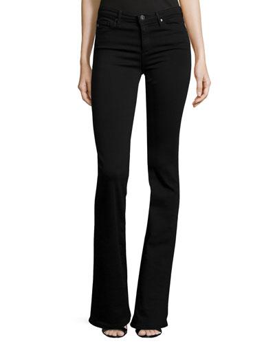 Angel Super Boot-Cut Jeans, Black