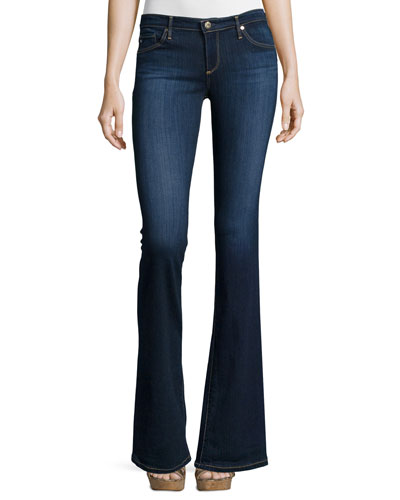 Angelina Petite Boot-Cut Jeans, Midnight Swim