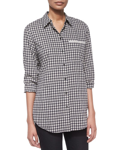 Jude Checkered Blouse with Pocket