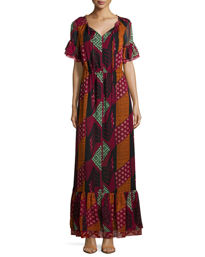 Neiman Marcus Dvf Wrap Dress Silk Maxi Dress Red