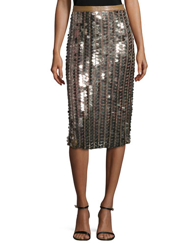 Sequined Pencil Skirt