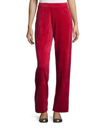 Velour Full-Length Jog Pants, Women's