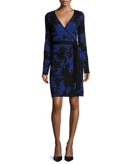 Diane von Furstenberg Leandra Floral-Print Wrap Dress, Blue