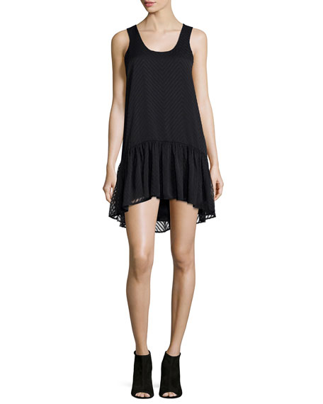 Lovers + Friends Gwen Sleeveless Babydoll Dress, Black