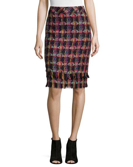 Trina Turk Jael Tweed Pencil Skirt