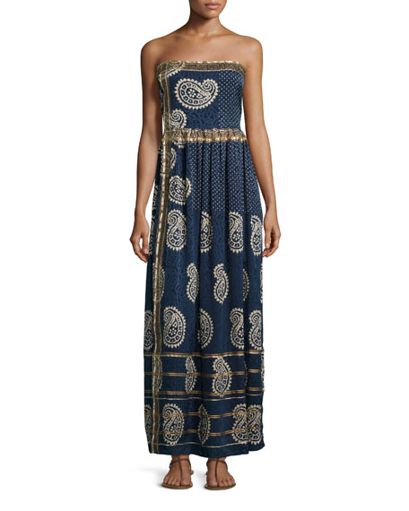 Calypso St. BarthRosanna Strapless Maxi Dress, Apparition
