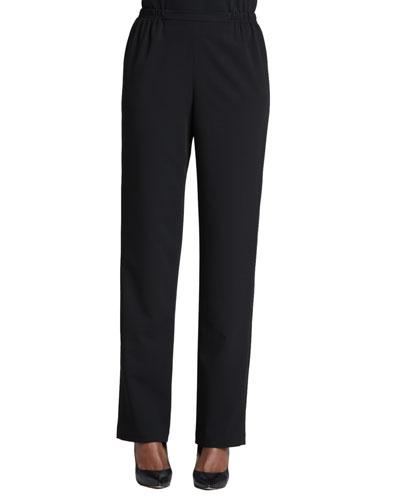 Stretch-Gabardine Travel Pants, Women's