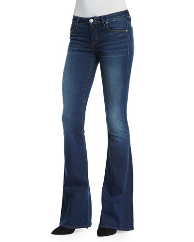 Mia Mid-Rise Flare-Leg Jeans, Daughtless