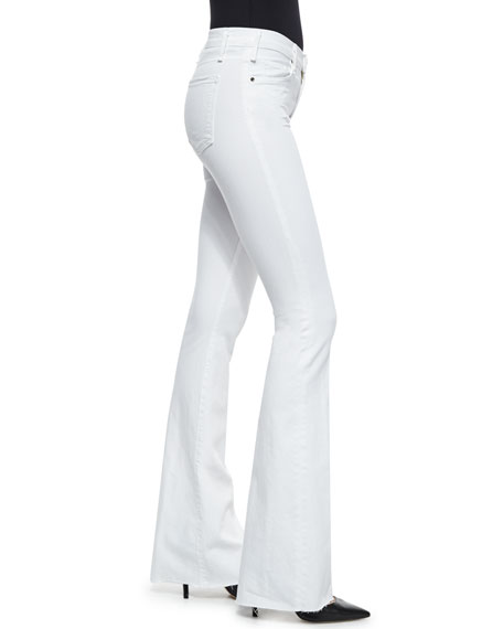 Majorelle High-Rise Flare-Leg Denim Jeans, White