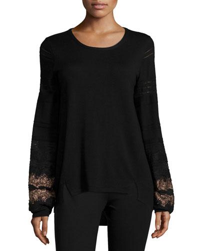 Angelina Sweater W/ Lace Cuffs