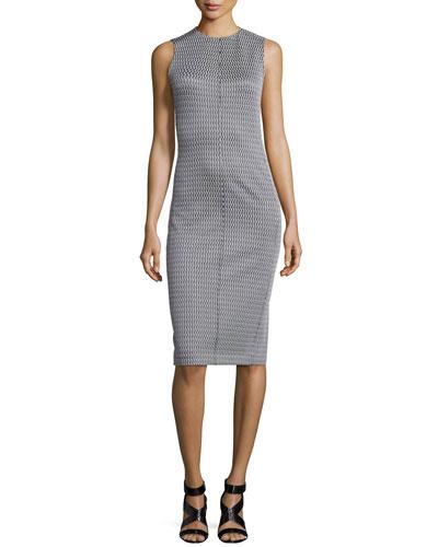 Ekundayo Patterned Knit Sheath Dress