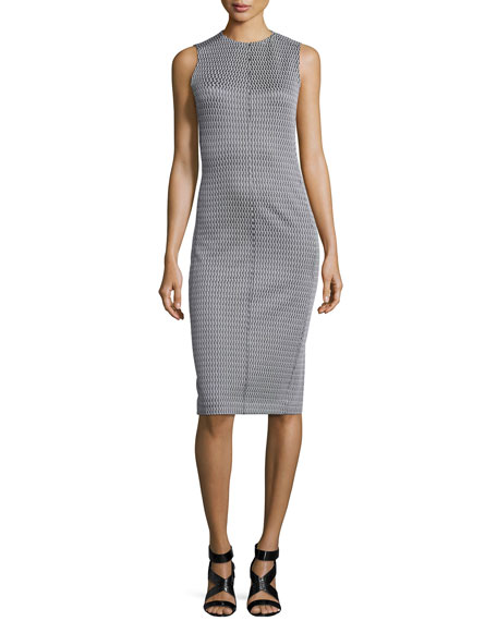 Theory Ekundayo Patterned Knit Sheath Dress