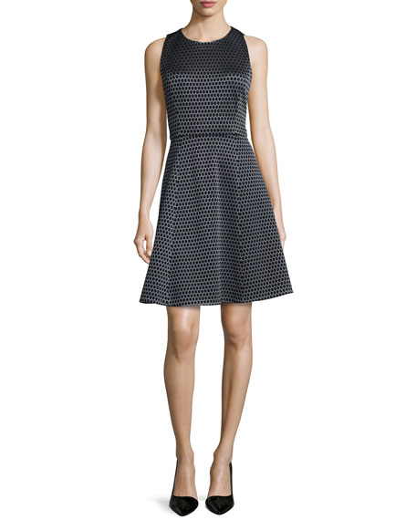 Theory Trekana Printed Sateen Sleeveless Dress