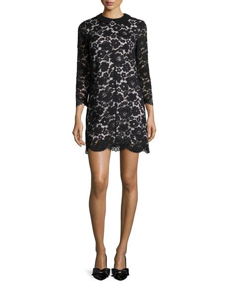 Ted Baker London Ameera Lace Sheath Dress, Black