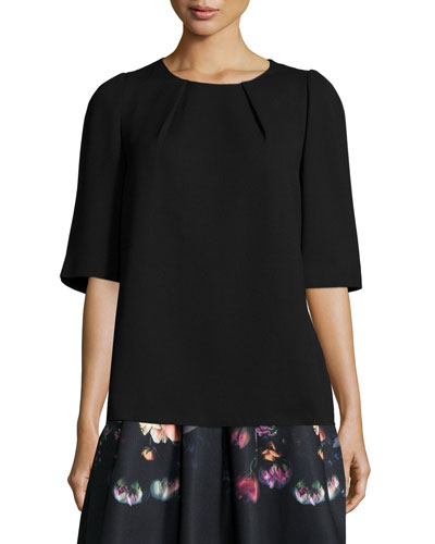 Sydelle Half-Sleeve Top, Black