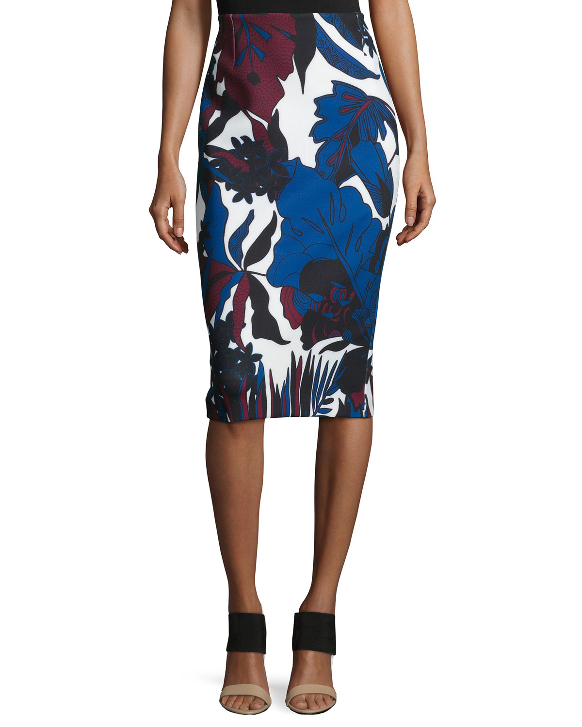 d799a9850 Ted Baker London Woodblock Leaf Pencil Skirt, White Multi | Neiman ...