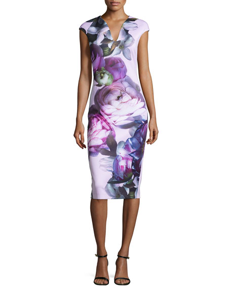 Ted Baker London Emaline Sunlit-Floral Midi Dress, Multi
