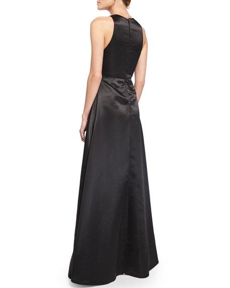 Clarabelle Sleeveless Split-Skirt Gown