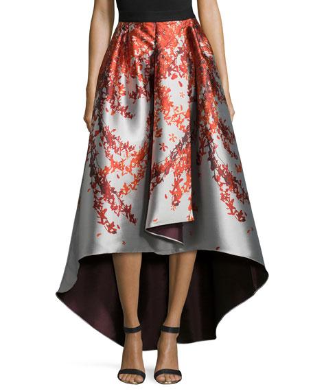 Kishi High-Low Printed Ball Skirt