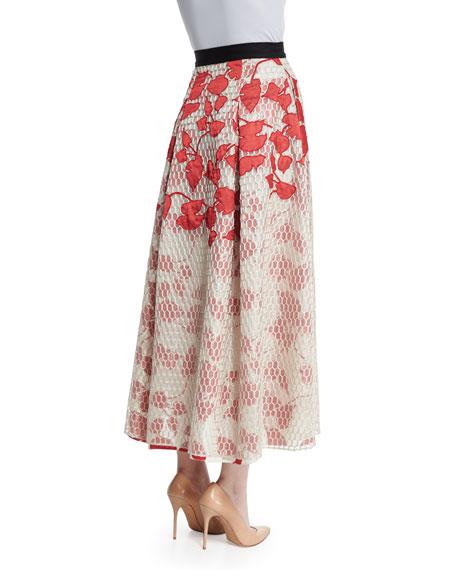 Akako Midi Floral Skirt