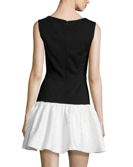 Hepburn Sleeveless Combo Dropped-Waist Dress