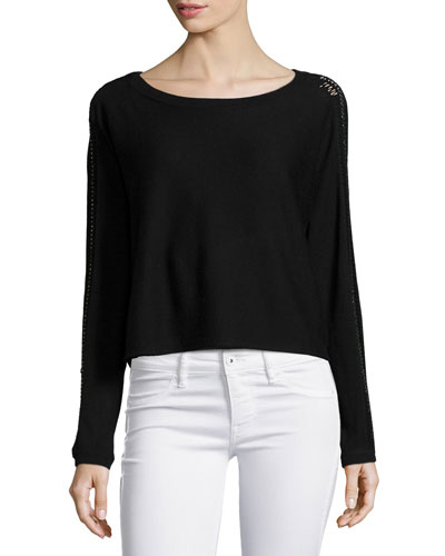 Casper Long-Sleeve Sweater, Black