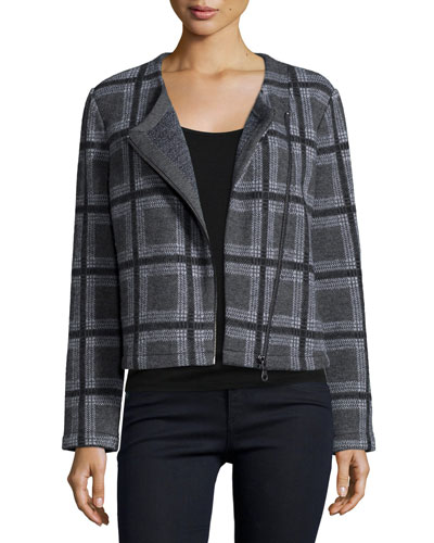 Etesse Plaid Wool-Blend Jacket