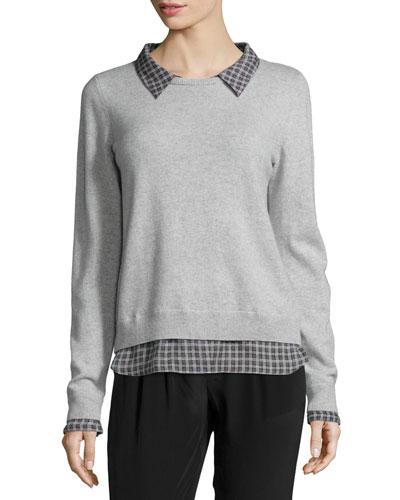 Zhen D Cashmere-Blend Shirttail Sweater