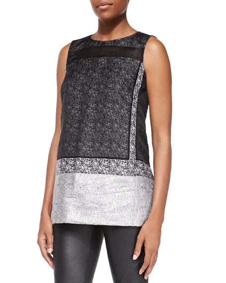 Lafayette 148 New York Erica Sleeveless Mixed Media