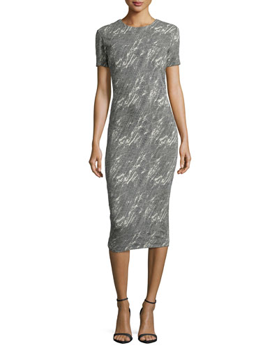 TV Screen-Jacquard Midi Sheath Dress