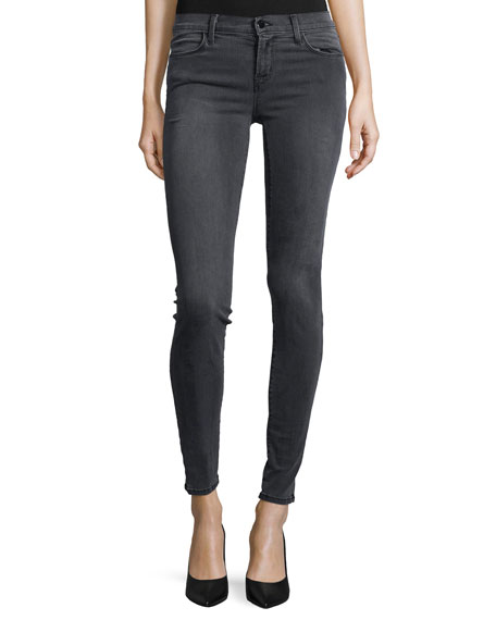 J Brand 620 Mid-Rise Super Skinny Jeans, Night