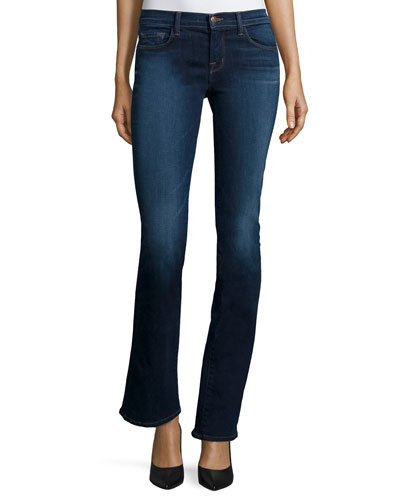811 Mid-Rise Boot-Cut Jeans, Starlight