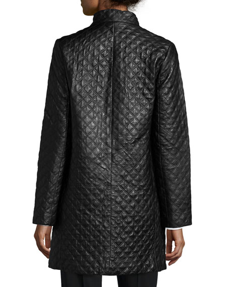 Neiman marcus quilted leather jacket