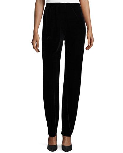 Stretch Velvet Slim Pants, Women's