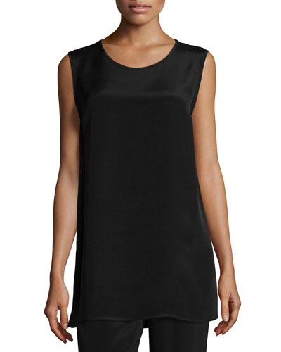 Crepe Tunic/Tank, Black, Women's
