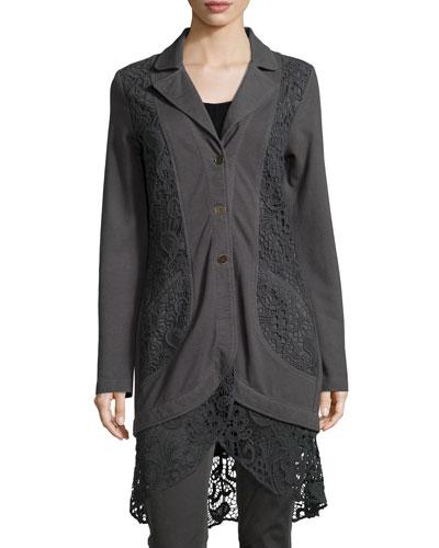 Paisley Crochet-Detailed Jacket, Women's