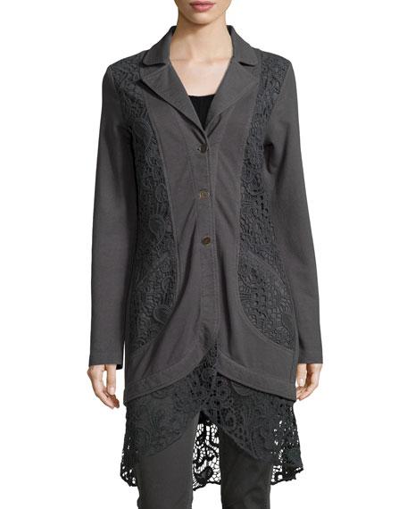 XCVI Paisley Crochet-Detailed Jacket, Women's