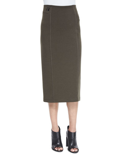Double-Knit Ponte Skirt, Peridot