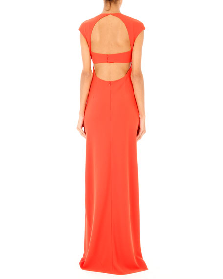 EXPOSEDBACK MAXI DRESS/FLARE