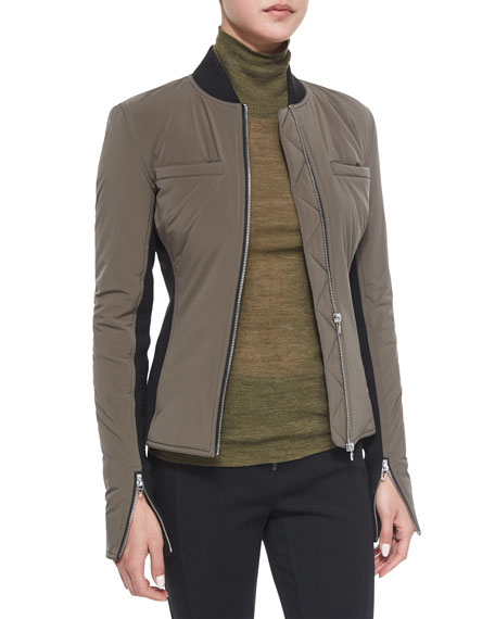 T by Alexander WangRace Suit Fitted Zip Bomber