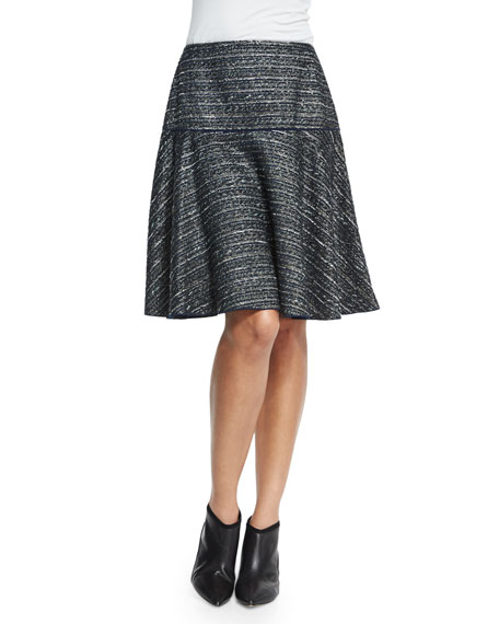 Lafayette 148 New York Kenya Tweed Flounce Skirt